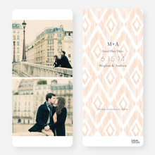 Ikat Save the Dates - Orange