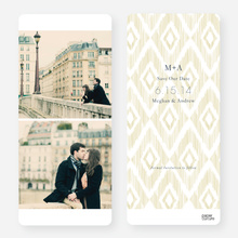 Ikat Save the Dates - Yellow