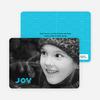 Joy Modern Holiday Photo Card - Sky Blue
