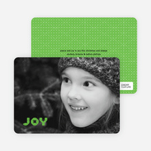 Joy Modern Holiday Photo Card - Apple Green