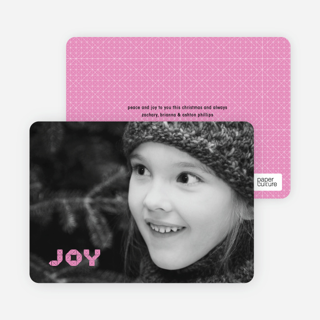 Modern Holiday Photo Cards: Bringing Joy - Magenta