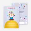 Juggling Clown Birthday Party Invitations - Purple Fade