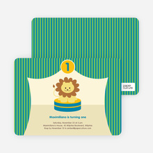 King of the Big Top Tent, Lion Birthday Party Invitations - Green Energy