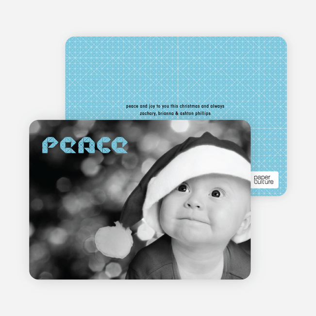 Modern Peace Photo Cards - Powder Blue