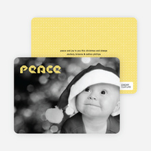 Modern Peace Photo Cards - Taupe Yellow