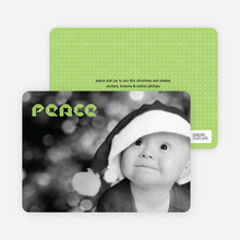 Modern Peace Photo Cards - Celadon Green