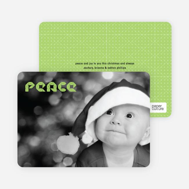 Modern Peace Photo Cards - Celadon Green