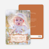 Modern Traditionalist Easter Photo Card - Rustic Brown