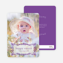 Modern Traditionalist Easter Photo Card - Grape Vine