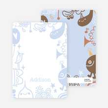 Note Cards: 'A Child's Imagination' cards. - Pale Blue