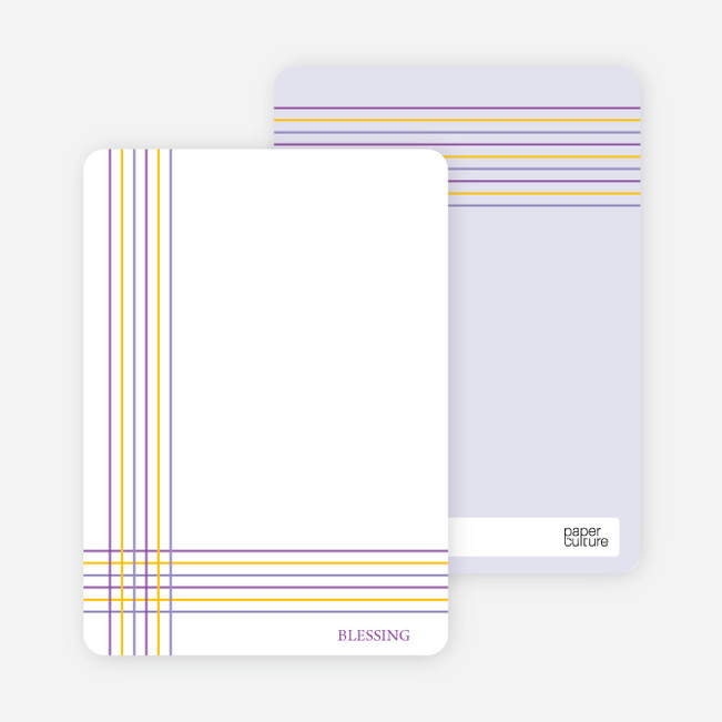 Notecards for the 'Bold, Geometric Cross' cards. - Purple