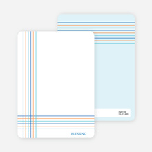 Notecards for the 'Bold, Geometric Cross' cards. - Cadet Blue