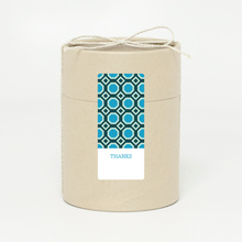 Pattern Chic Gift Tags and Stickers - Blue