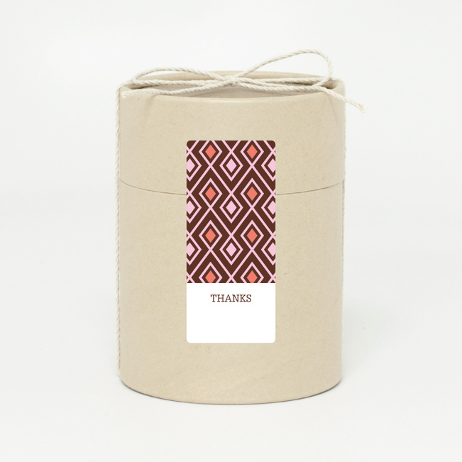 Pattern Chic Gift Tags and Stickers - Brown
