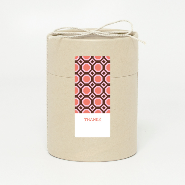Pattern Chic Gift Tags and Stickers - Orange