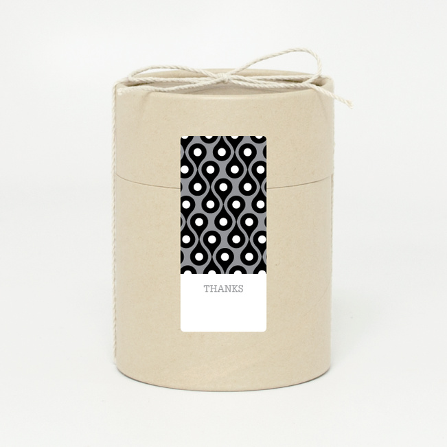 Pattern Chic Gift Tags and Stickers - Black