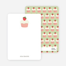 Strawberry Cupcake: Personal Stationery - Chocolate