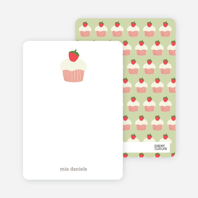 Personal Stationery for Cupcake Birthday Party Invitation - Chocolate