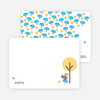 Personal Stationery for Forest Themed Modern Birthday Invitation - Apricot