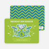 Rockstar Birthday Photo Invitations - Green Bash