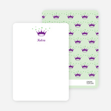 Stationery: 'Classic Princess' cards. - Royal Purple