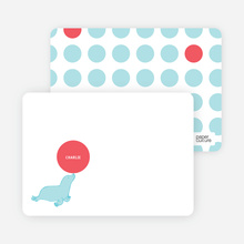 Sammie Seal Note Cards - Azure