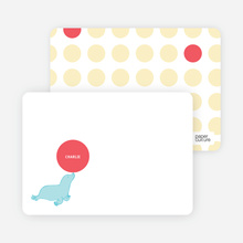 Sammie Seal Note Cards - Buttercup