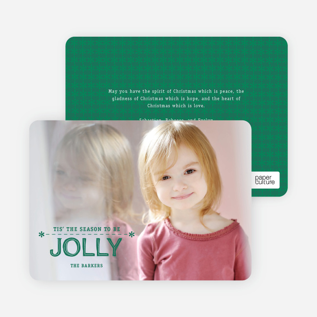 Tis the Season to be Jolly - Green