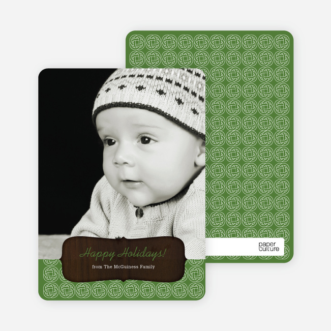 Holiday Cards: Wood Carving - Green