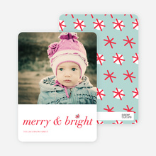Snowflake Holiday Cards: Merry & Bright - Red