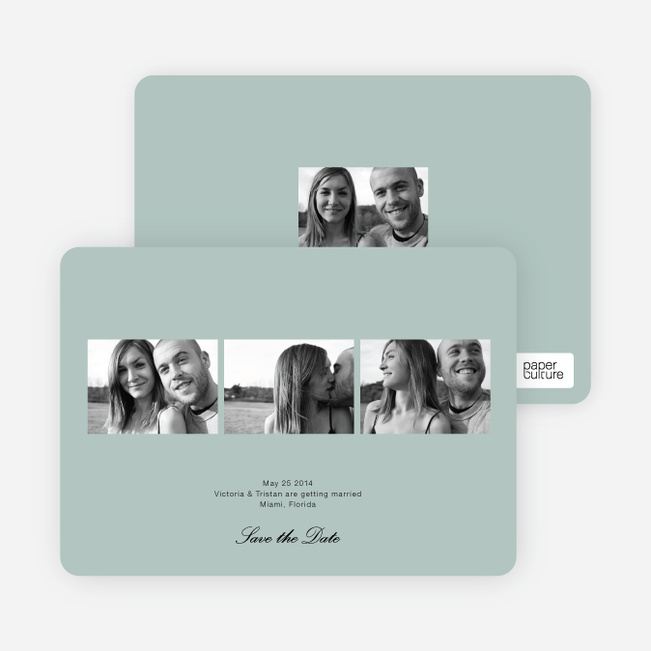 Multi Photo Save the Date Cards - Sage