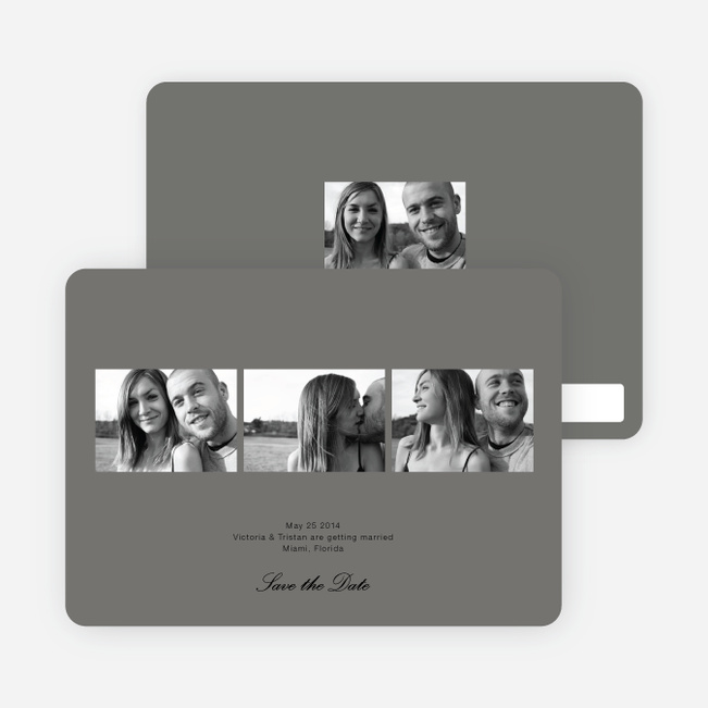 Multi Photo Save the Date Cards - Charcoal