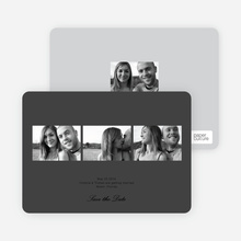 Multi Photo Save the Date Cards - White