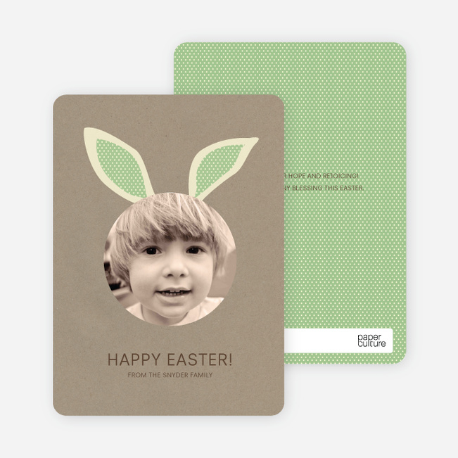 Bunny Ears Easter Photo Cards - Pink Coco