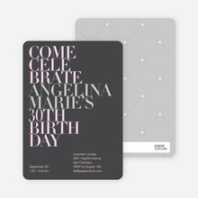 Celebrate Good Times Invitation - Dark Grey