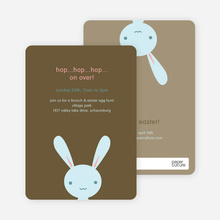 Hip Hop Easter Bunny Cards - Blue Icing