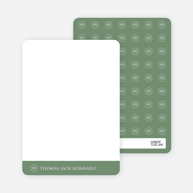 Notecards for the 'Studio Series' cards. - Pale Green