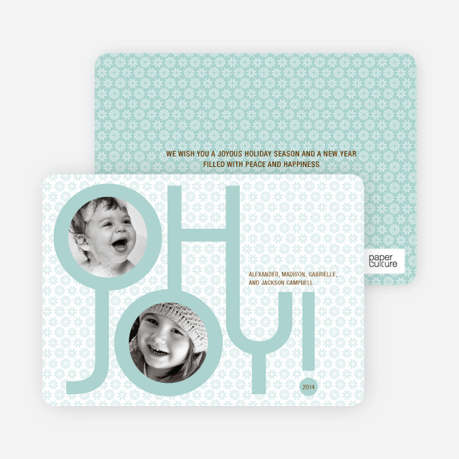 Modern Photo Cards: Oh Joy - Seafoam