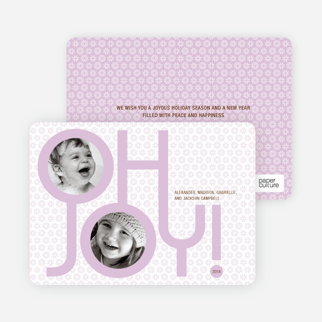 Oh Joy Modern Photo Cards - Wisteria