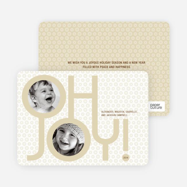 Oh Joy Modern Photo Cards - Wheat