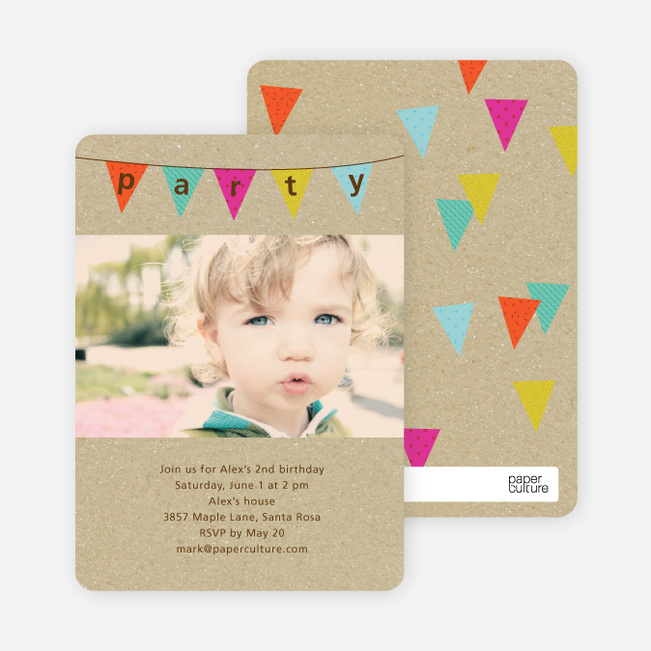 Party Flags Birthday Invitations