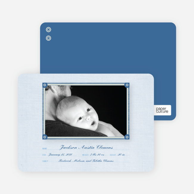 Birth Announcements: Wallpaper Photo Frame - Glacier