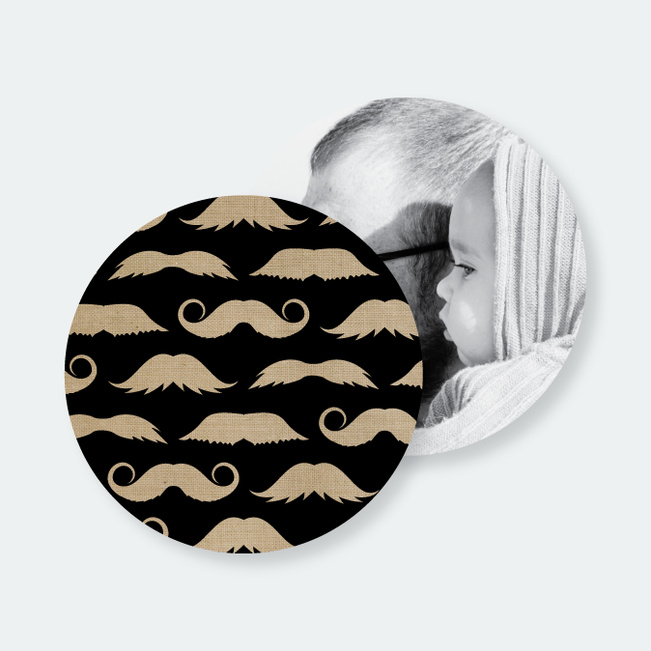 Fan{tache}tic Moustache Coasters - Beige