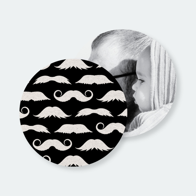Fan{tache}tic Moustache Coasters - White