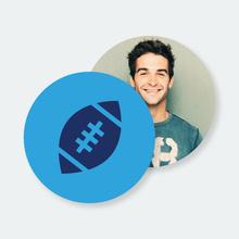 Football Coasters - Blue