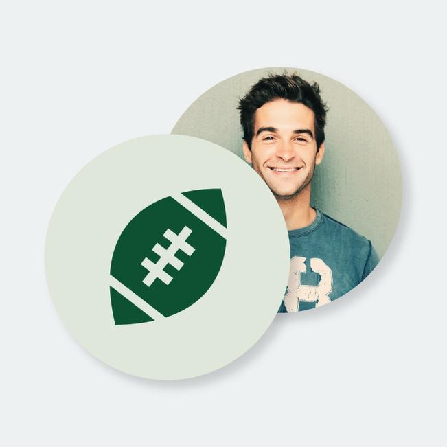 Custom Football Coasters - Green