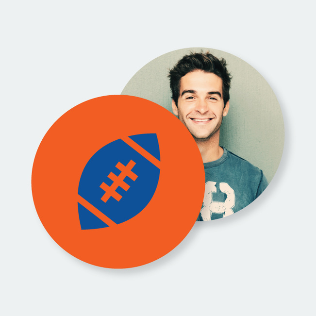 Custom Football Coasters - Orange