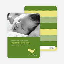 Birdie Baby Announcement - Grass Green