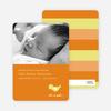 Birdie Baby Announcement - Bright Orange