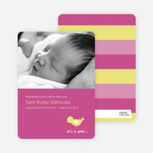 Birdie Baby Announcement - Deep Pink